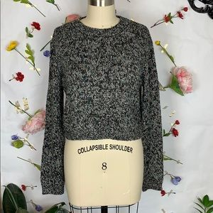 Cotton Emporium marled cropped knit sweater